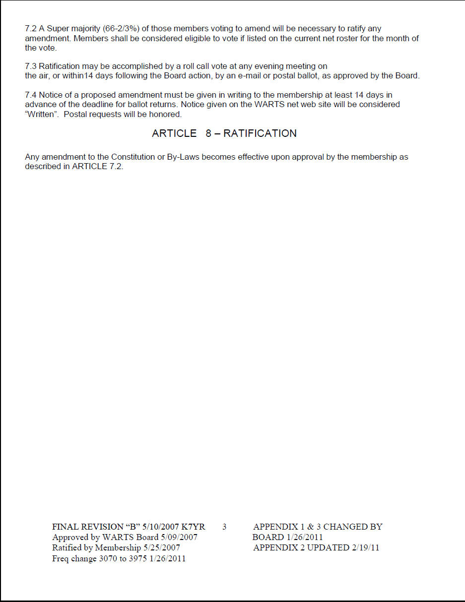 WARTS Net Constitution – Ratifying the Constitution Worksheet