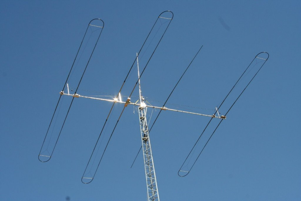 Antenna For 75 Thru 6 Meters Is The Steppir DB 36 At 90 FT
